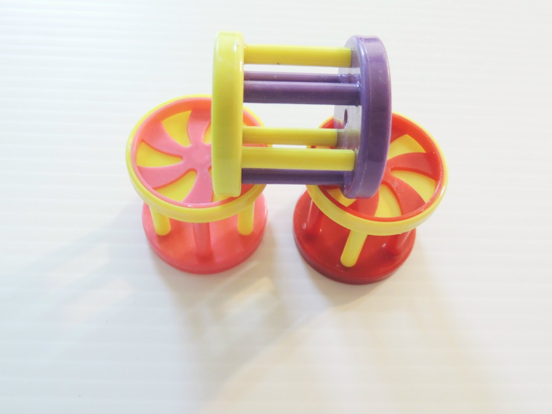 3 Treat Roller Balls bird toy parts parrots cages craft