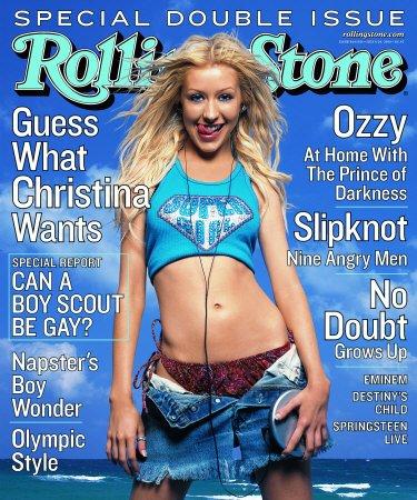 CHRISTINA AGUILERA Rolling Stone July 6, 2000 - Issue 844/845 OZZY OSBOURNE - EMINEM - NO DOUBT
