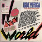 "USA for Africa: ""We Are the World"" Original 45 RPM Record"