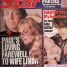 PAUL McCARTNEY'S LOVING FAREWELL TO WIFE LINDA May 5, 1998 Issue Star Magazine Beatles