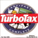 TurboTax For Windows Tax Year 1998 CD Personal 1040 Final Edition