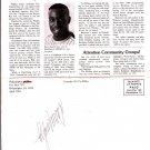 DALE MURPHY Autograph Signed on Phillies Phan-O-Gram April 1991 Outside Veterans Stadium