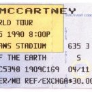 Paul McCartney World Tour Ticket Stub Sunday 7/15/1990 Veterans Stadium Philadelphia Concert