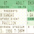 STYX / KANSAS Full Unused Ticket June 23, 1996 Hershey Park Stadium Concert Stub