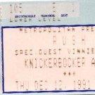 RUSH / VINNIE MOORE Ticket Stub December 12, 1991 Knickerbocker Arena Albany, NY Concert