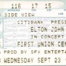 ELTON JOHN Ticket Stub September 23, 1998 First Union Center Philadelphia, PA  Concert
