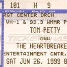 TOM PETTY and THE HEARTBREAKERS Ticket Stub June 26, 1999 Entertainment center Camden, NJ Concert