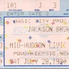 JACKSON BROWNE Ticket Stub July 28, 1990 Mid-Hudson Civic Center Poughkeepsie, NY Concert