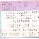 CROSBY, STILLS & NASH / FLEETWOOD MAC Ticket Stub August 6, 1994 Darien Lake Performing Arts Center