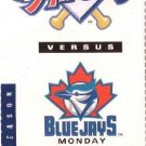 ANAHEIM ANGELS - TORONTO BLUE JAYS Ticket Stub April 21,1997 ANAHEIM, CA