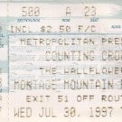 COUNTING CROWS - THE WALLFLOWERS Ticket Stub July 30,1997 Montage Mountain Performing Arts Center