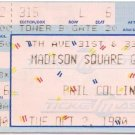 PHIL COLLINS Ticket Stub October 2,1990 Madison Square Garden New York City Concert