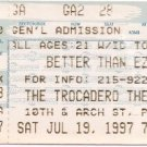 BETTER THAN EZRA Ticket Stub July 19,1997 The Trocadero Theater Philadelphia, PA Concert
