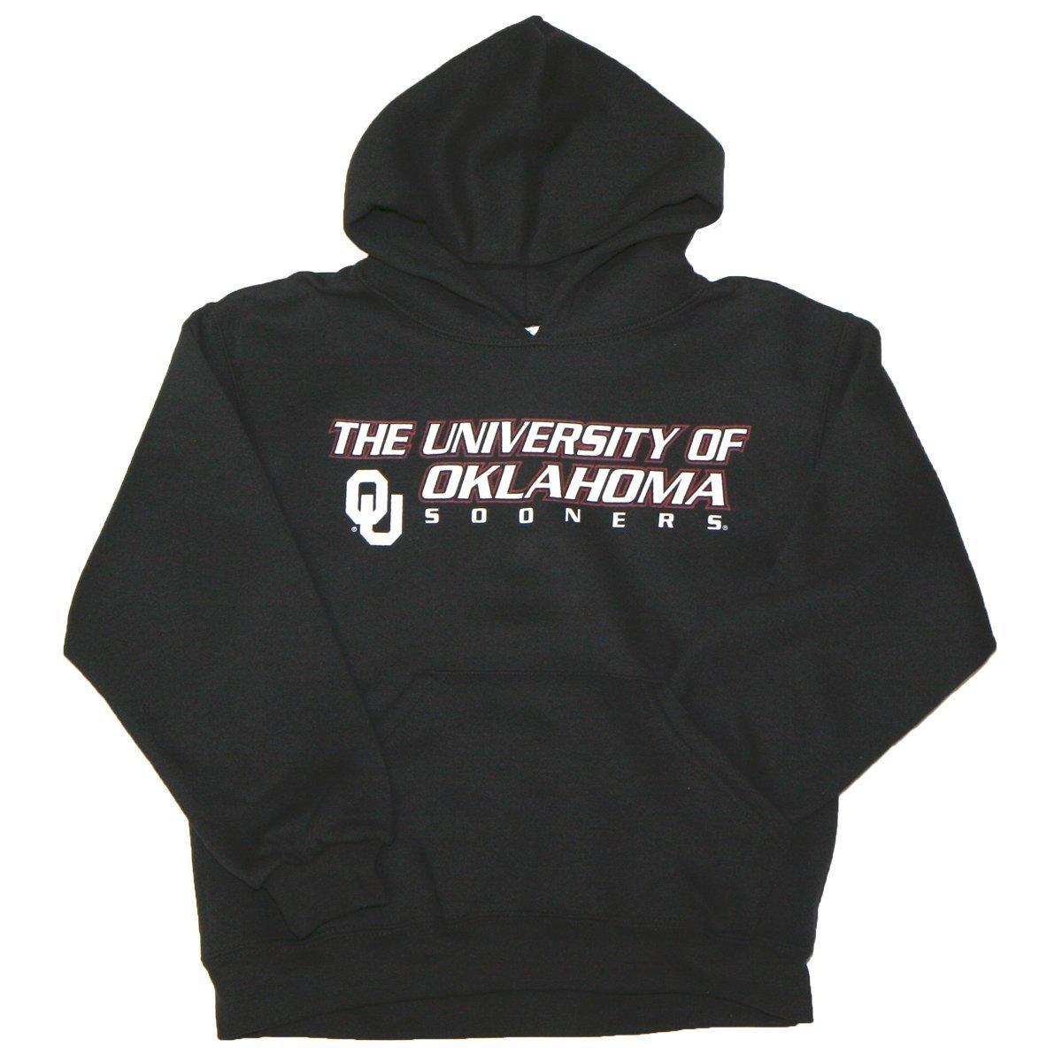 OKLAHOMA SOONERS Team Youth Hooded Sweatshirt XL (18-20) Black MJ Soffe HOODIE BRAND NEW!