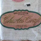 """CHARLES CRAFT CROSS STITCH FABRIC ~ BREAD COVER, 14 COUNT, 18"""" X 18"""", OATMEAL"""