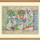 "Dimensions Needlecrafts Stamped Cross Stitch Kit, Herb Collage 14"" x 11"" Design by Susan Winget"
