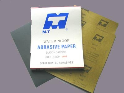 Water proof abrasive paper