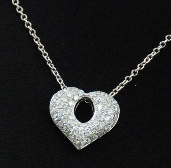 Bubbly Diamond Heart Pendant 18K Necklace