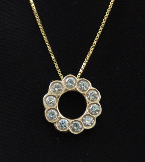 Very Diamond O Pendant 14K Necklace