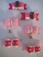 Breat Cancer Bows for Girls