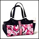 Pink Swirl Nylon Diaper Bag Set by Russ Berrie baby