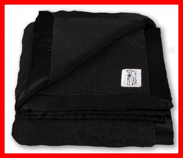 """BLACK ONYX NWT Little Giraffe Chenille Adult Throw XL Blanket SOFT 88"""" x 59"""""""
