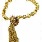 KENNETH JAY LANE Tassle Bracelet Crystals KJL