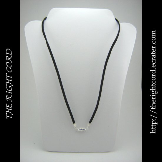 """21"""" Black Faux Leather Suede Necklace Cord Microfiber with Barrel Clasp"""