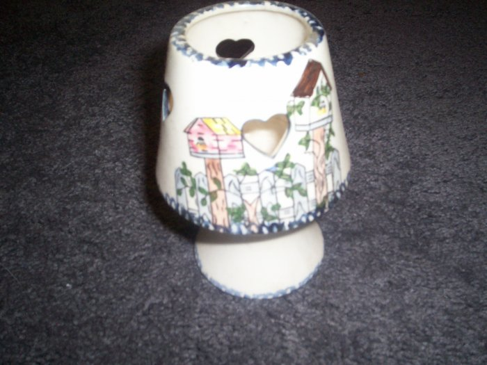 Country Style Tealight Candle Holder with Hearts