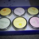 Candle Light Collection Set of Six Jar Candles  NEW