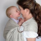 Ring Sling Baby Sling Carrier - Pure Softened Linen - Natural - DVD included
