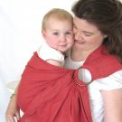 Ring Sling Baby Sling Carrier - Pure Softened Linen - English Rose - DVD included