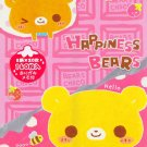 Crux Japan Happiness Bears Memo Pad #2 kawaii