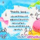 Crux Japan Thanks Song Mini Memo Pad