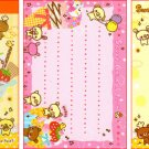 Kamio Japan Sweet Animal Town Mini Memo Pad