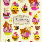 San-X Japan Rilakkuma Desserts Sticker Sheet #2 (y)