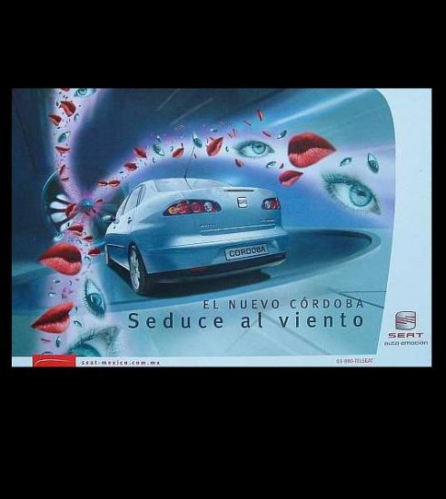 SEAT CORDOBA  ADVERTISING POSTCARD FROM MEXICO