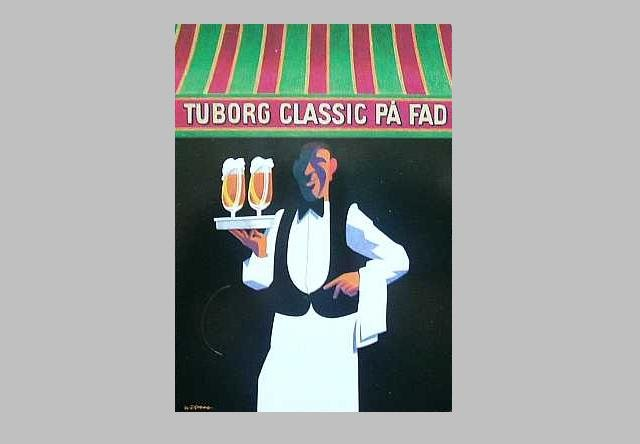 TUBORG CLASSIC BEER ADVERTISING POSTCARD FROM DENMARK