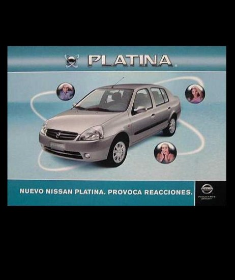 NISSAN PLATINA  ADVERTISING POSTCARD FROM MEXICO