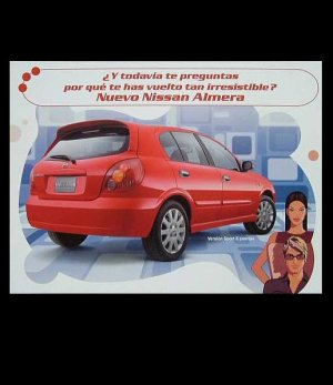 NISSAN ALMERA  ADVERTISING POSTCARD FROM MEXICO