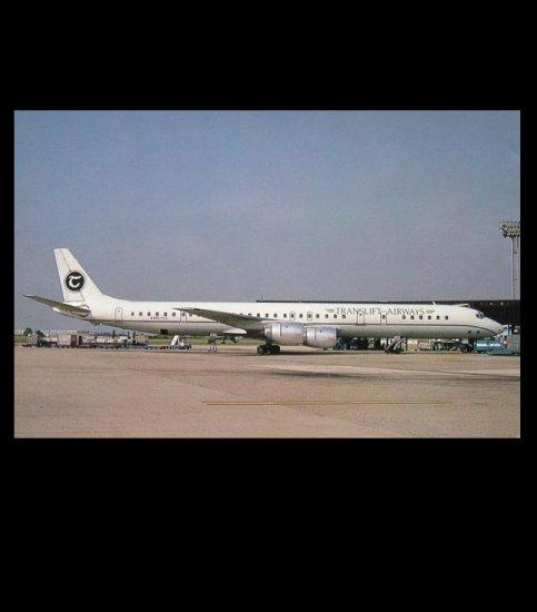 TRANSLIFT AIRWAYS McDONALD DOUGLAS DC8-71 POSTCARD
