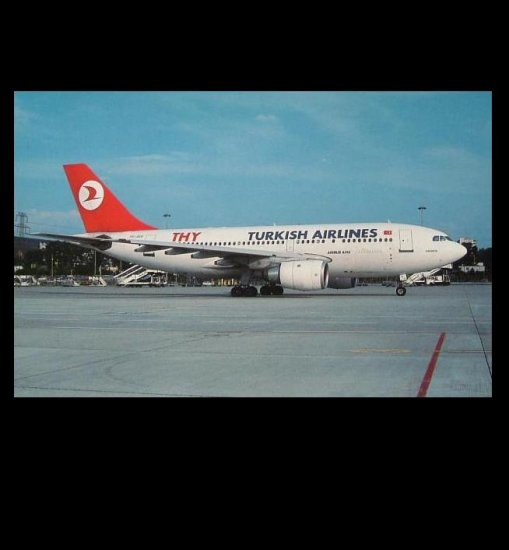 TURKISH AIRLINES AIRBUS A310-203 POSTCARD