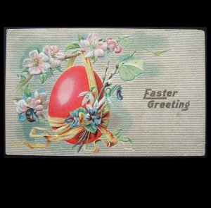 UNITED STATES 1910 EMBOSSED EASTER POSTCARD WITH ONE CENT STAMP