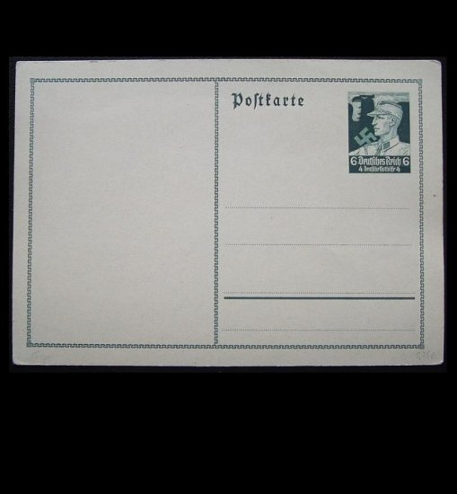 NAZI GERMANY DEUTSCHES REICH UNUSED PRESTAMPED POSTCARD