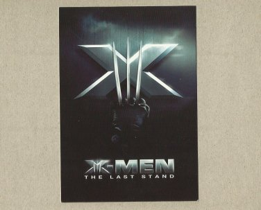 X-MEN THE LAST STAND MOVIE ADVERTISING POSTCARD FROM TAIWAN