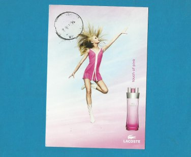 LACOSTE A TOUCH OF PINK ADVERTISING POSTCARD