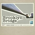 BROOKLYN BRIDGE AMERICAN EXPRESS ADVERTISING POSTCARD FROM TAIWAN