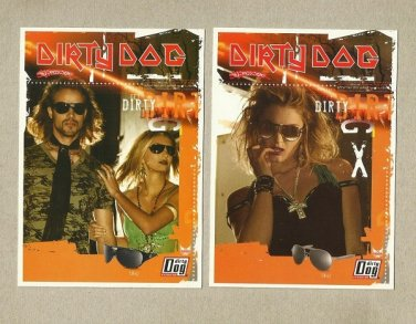 DIRTY DOG SUNGLASSES TWO ADVERTISING POSTCARDS