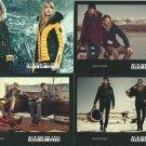 NAPAPIJRI FASHION BRAND FOUR ADVERTISING POSTCARDS