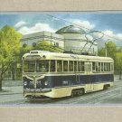 SOVIET ERA 1958 TRAM ON POSTCARD FROM THE UKRAINIAN POST OFFICE
